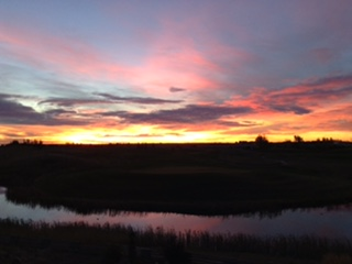 Wheatland county sunset