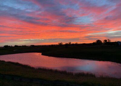 Muirfield Golf - A beautiful sunset