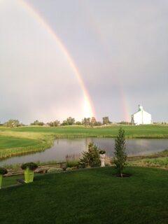 Double rainbow in Calgary Area